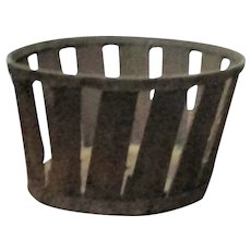 3 Inch Canted Side Shaker Wood Splint & Tin Berry Basket