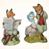 2 Royal Albert Beatrix Potter Figurines