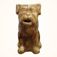 1880's NJ 9 Inch Spongeware Ugly Dog Pitcher John Rue South Amboy