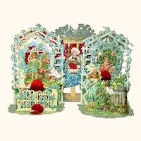 True Pair 8.5 Inch German Die Cut Pop Up Valentines w Cellophane & Honey Comb + 1 Other