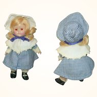 1950 Transitional 7.5 Inch HP Vogue Toddler Bi-Color Eyes Blond Side Part Flip