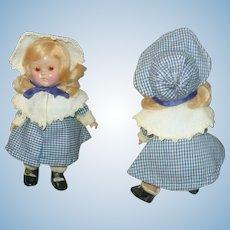 1950 Transitional 7.5 Inch HP Vogue Toddler Bi-Color Eyes Blond Side Part Flip