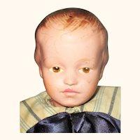 14/205 Molded Hair Schoenhut Boy Brown Intaglio Eyes