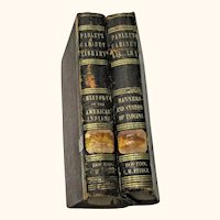 E. G. Goodrich 2 Volumes 1848 History of The American Indians & Manners and Customs of Indians