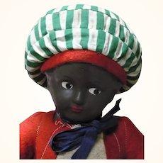 1920-30 Sarotti Moor Black Composition Head Boy Advertising Doll