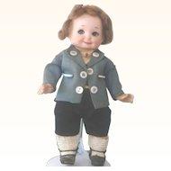 "7"" AM 253 Googly Nobbi Kid Boy Original Costume Wig Blue SE"