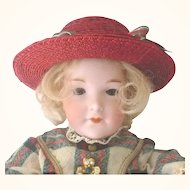 """16"""" A.M. 400 Character Doll Flapper Body Antique Wig Clothes"""