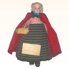 "13""Bisque Shoulder Head  in Regional Welsh Hand Sewn Costume"
