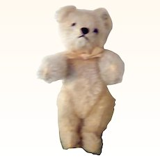 "6"" Steiff  1950's White Bear with Script Button Seamed Paws"