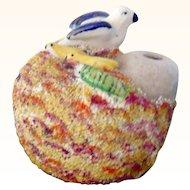 19th C Staffordshire Bird Nest Baby Birds & Snake Inkwell