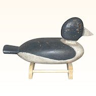Cape May NJ Solid Wood Golden Eye Enigma Decoy Old Paint