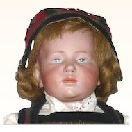 16 Inch 1910 Kammer Reinhardt Marie 101 Character Original Wig Pate Shoes and Regional Costume