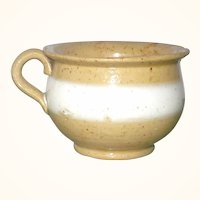 Mid 19th Century American Yellowware Toy Chamber Pot