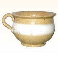 Mid 19th Century American Yellowware Toy Chamber Pot