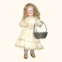 Fine and Beautiful 16 Inch K*R 101 Marie Original Wig Body Finish Antique Clothing