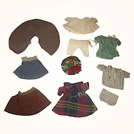 10 Pieces of Antique Doll Clothing for 5-6 Inch All Bisque Dolls