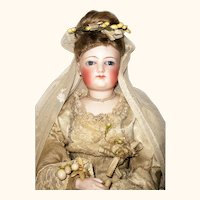 Stunning 15 Inch Gesland Poupee Bride with Early Face Bisque Hands and Feet