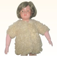 Old Champagne Wool Poodle Knit Jacket for Doll or Bear