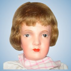 Fine 22 Inch 1920's Dora Petzold Reform Art Doll Great Face Clean Body Original Dress & Shoes
