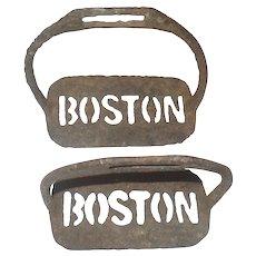 19th Century Civil War Era Gettysburg Farm Dug Iron Boston Stirrups