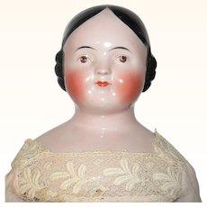 28 Inch Pink Tint Kestner Covered Wagon China  Brown Eyes Beautiful Face