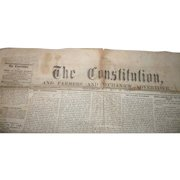 4 Page May19, 1863 Constitution And Farmers And Mechanic's Advertiser Woodbury NJ Newspaper with Announcement from Lincoln & Seward