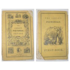 Early 19th Century Primer The Child's Pictorial First-Book Published by Leavitt & CO. New York
