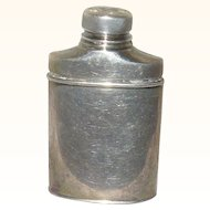 Miniature 2 & 1/8 Inch Sterling Silver Talcum Powder Container Shaker for Bebe or French Fashion Trunk
