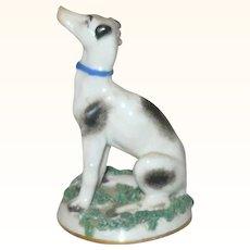 3.5 Inch 19th Century Chelsea Gold Anchor Mark Greyhound