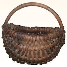 2.5 Inch 19th Century Miniature New Jersey Splint Buttocks Basket