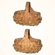 3 Inch 19th Century 10 Rib Miniature NJ Splint Gathering Basket