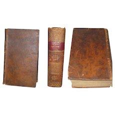 Leather Bound Almanac Le Bon Jardinier 1821 Paris France Marble End Paper