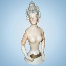 6.25 Inch Goebel Half Doll Arms Jointed at Shoulder and Elbows MME Pompadour 99 // 54