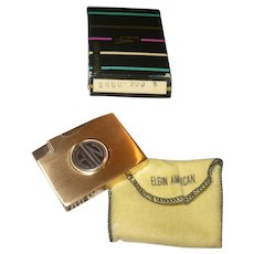 Retro Gold Finished Elgin American Lighter Gift From Ed Sullivan in Box and Cloth Bag