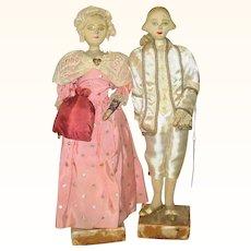 11 Inch George and Martha Washington 1940's Saroff Character Dolls