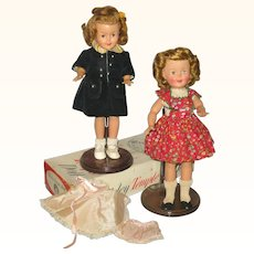 Two 12 Inch 1957 Shirley Temple Dolls with Partial Box