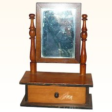 8 Inch 19th Century Dresser Box with Drawer and Mirror for French Fashion