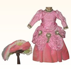 Vintage Bright Pink 3 Piece Costume for 16 Inch Bebe