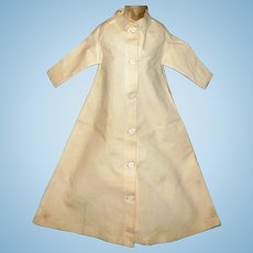 19th Century Hand Stitched Home Spun Linen Night Gown or Robe for China or Early Doll