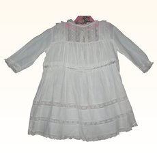 20 Inch White Lawn Edwardian Dress with Lace Bodice and Trim