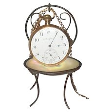 Victorian German Metal and Shell Watch Holder
