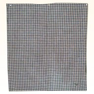 24  x 26 Inch Slice Indigo Cream Red and Gold Check Homespun