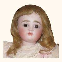 Beautiful French Look 15.5 Inch 19th Century Kestner 7 Original Wig Pate Body Finish