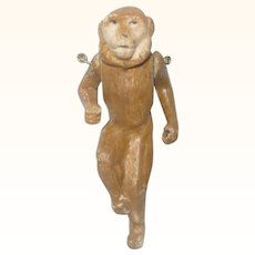 3.75 Inch Victorian Whimsy Toy Brown Bisque Monkey with Wire Jointed Arms