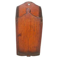 Primitive 19th Century Wood Wall Box with Grater