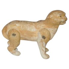 2.75 Inch Wire Jointed Bisque Tiger Victorian Whimsy Toy