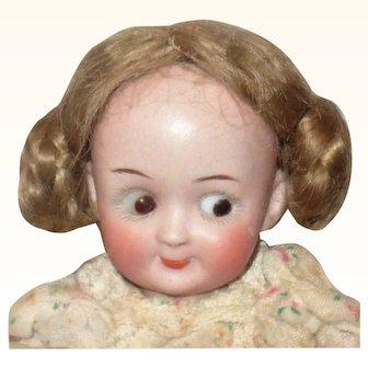 8 Inch Gebruder Heubach Googly Brown Sleep Googly Eyes JTD Body Original Finish Wig Pate Shoes & Clothes