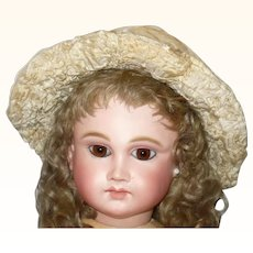 19th Century Ivory Silk and Gauze Bebe Doll Hat