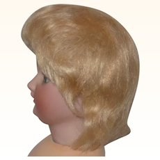 Old Gold Mohair Doll Wig with Pate for Character Toddle r