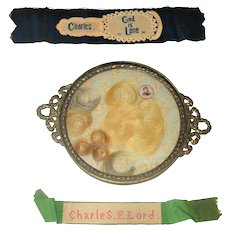 Three 19th Century Cumberland County NJ Mourning Tokens - Red Tag Sale Item